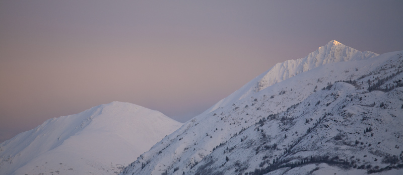 sunrise on Caribou Mountain